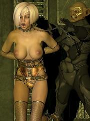 Hentai Bitch rides Dark Lord as fucked